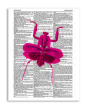 "Pink Mantis 8.5""x11"" Semi Translucent Dictionary Art Print"