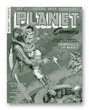 "Planet Comics NO. 71 - 11"" x 14"" Mono Tone Print (Choose Your Color)"