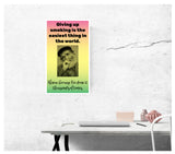 "Giving Up Smoking Man 13""x22"" Vintage Style Showprint Poster - Concert Bill - Home Nostalgia Decor Wall Art Print"
