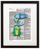 "Alpha Set 1-F 8.5""x11"" Semi Translucent Dictionary Art Print"