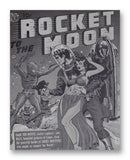 Rocket To The Moon No.1 - 11x14 Monotoned Print
