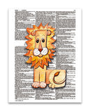 "Alpha Set 1-L 8.5""x11"" Semi Translucent Dictionary Art Print"