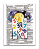 "Alpha Set 1-N 8.5""x11"" Dictionary Art Print"