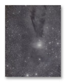 "Star Formation Lupus Cloud 11"" x 14"" Mono Tone Print (Choose Your Color)"