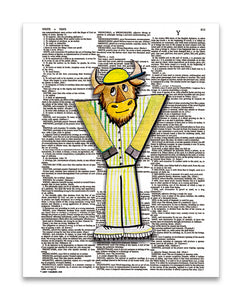 "Alpha Set 1-Y 8.5""x11"" Dictionary Art Print"