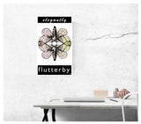 "Elegantly Flutterby Black & White 13""x22"" Vintage Style Showprint Poster - Home Nostalgia Decor Wall Art Print - Kristy Joyce Artist Edition"