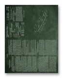 "Snowboard Patent 11"" x 14"" Mono Tone Print (Choose Your Color)"