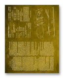 "Snow Surfboard Patent 11"" x 14"" Mono Tone Print (Choose Your Color)"