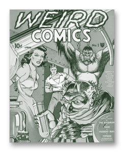 "Weird Comics No1 11"" x 14"" Mono Tone Print (Choose Your Color)"