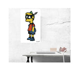 "Cartoon Mash Ups – Son 13""x22"" Vintage Style Showprint Poster - Home Nostalgia Decor – Wall Art Print – Neckahneck Artist Edition"