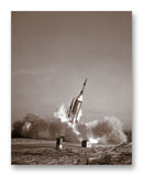 "Little Joe Booster Launch 11"" x 14"" Mono Tone Print (Choose Your Color)"