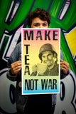 "Make Tea Not War 13""x22"" Vintage Style Showprint Poster - Home Nostalgia Decor – Wall Art Print - Jacob Andrew Dodge Artist Edition"