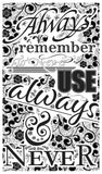 "Always Remember To Never Use Always & Never - 13""x22"" Vintage Style Word Art Poster - Home Nostalgia Decor – Motivational Wall Print - Lammy Artist Edition"