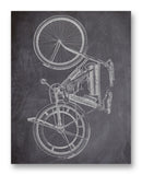 "Shaw Motorcycle 11"" x 14"" Mono Tone Print (Choose Your Color)"