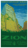 "United States Department of the Interior - National Park Service – Mount Zion - 13""x22"" Vintage Style Showprint Poster - Home Decor – Wall Art Print"