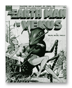 "Earthman on Venus Comic 11"" x 14"" Mono Tone Print (Choose Your Color)"