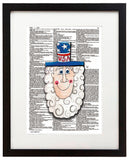 "Alpha Set 2-U 8.5""x11"" Semi Translucent Dictionary Art Print"