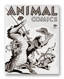 "Animal Comics No1 11"" x 14"" Mono Tone Print (Choose Your Color)"