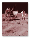 "Moon Landing 11"" x 14"" Mono Tone Print (Choose Your Color)"
