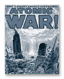 "Atomic War Comic No1 11"" x 14"" Mono Tone Print (Choose Your Color)"