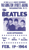 "The Beatles - Washington Sports Arena - 13""x22"" Vintage Style Showprint Poster - Wall Art - Home Decor - Concert Bill"