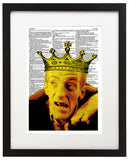 "Night of the Living Dead King 8.5""x11"" Semi Translucent Dictionary Art Print"