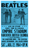 "The Beatles - Empire Stadium 13""x22"" Vintage Style Showprint Poster - Concert Bill - Home Nostalgia Decor Wall Art Print"