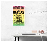 "The Beatles - Hollywood Bowl in Los Angeles 13""x22"" Vintage Style Showprint Poster - Concert Bill - Home Nostalgia Decor Wall Art Print"