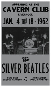 "The Silver Beatles - Cavern Club Liverpool 13""x22"" Vintage Style Showprint Poster - Concert Bill - Home Nostalgia Decor Wall Art Print"