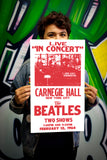 "The Beatles - Carnegie Hall - New York City 13""x22"" Vintage Style Showprint Poster - Concert Bill - Home Nostalgia Decor Wall Art Print"