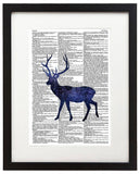 "Cosmic Stag 8.5""x11"" Semi Translucent Dictionary Art Print"