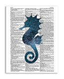 "Cosmic Seahorse 8.5""x11"" Semi Translucent Dictionary Art Print"
