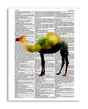 "Cosmic Camel 8.5""x11"" Semi Translucent Dictionary Art Print"