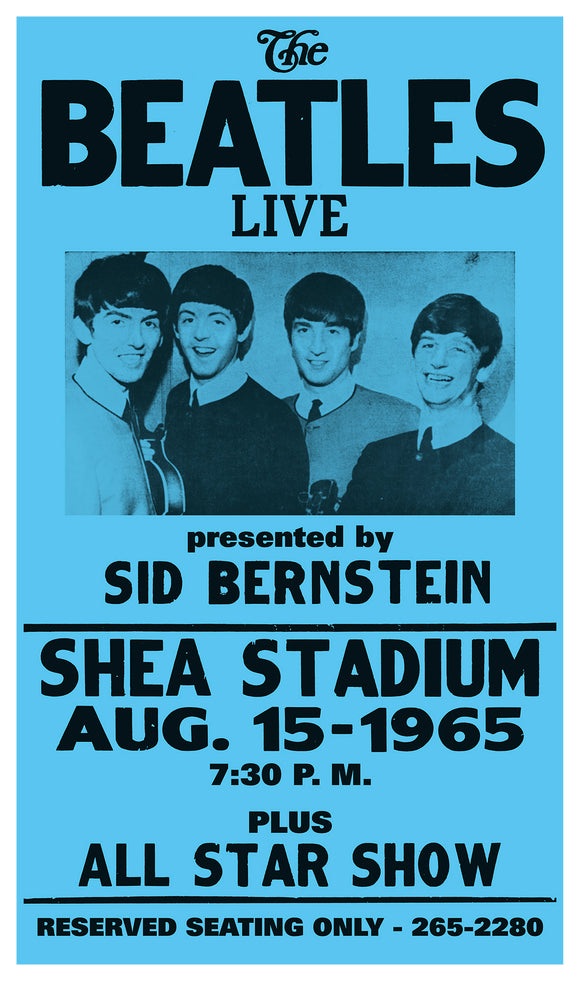 "The Beatles Live - Shea Stadium 13""x22"" Vintage Style Showprint Poster - Concert Bill - Home Nostalgia Decor Wall Art Print"