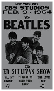 "New York City CBS Studios - The Beatles - The Ed Sullivan Show 13""x22"" Vintage Style Showprint Poster - Concert Bill - Home Nostalgia Decor Wall Art Print"