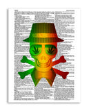 "Marijuana Soul 8.5""x11"" Semi Translucent Dictionary Art Print"