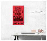 "The Doors - Light My Fire 13""x22"" Vintage Style Showprint Poster - Concert Bill - Home Nostalgia Decor Wall Art Print"
