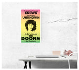 "There Are Things Known and There Are Things Unknown - Jim Morrison and The Doors 13""x22"" Vintage Style Showprint Poster - Concert Bill - Home Nostalgia Decor Wall Art Print"