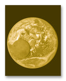 "Earth From A Million Miles 11"" x 14"" Mono Tone Print (Choose Your Color)"
