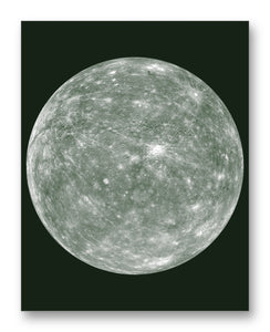"Mercury 11"" x 14"" Mono Tone Print (Choose Your Color)"