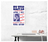 "Elvis Presley & The Jordanaires - Buffalo, New York 13""x22"" Vintage Style Showprint Poster - Concert Bill - Home Nostalgia Decor Wall Art Print"