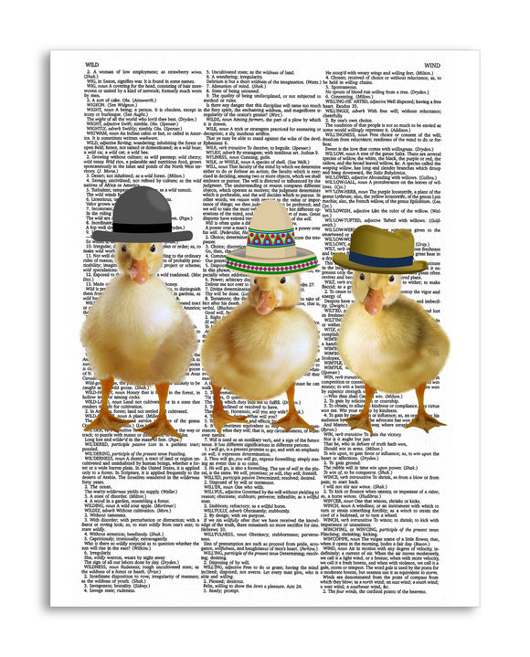 Ducklings in Hats 8.5