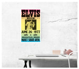 "Elvis Presley Live - Market Square Arena - Indianapolis, Indiana 13""x22"" Vintage Style Showprint Poster - Concert Bill - Home Nostalgia Decor Wall Art Print"