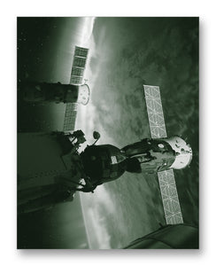 "ISS Aurora 11"" x 14"" Mono Tone Print (Choose Your Color)"