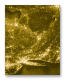 "ISS View of NYC 11"" x 14"" Mono Tone Print (Choose Your Color)"
