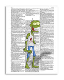"Happy Zombie 8.5""x11"" Semi Translucent Dictionary Art Print"