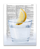 "Lemonade Glass 8.5""x11"" Semi Translucent Dictionary Art Print"