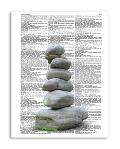 "Cairn 8.5""x11"" Semi Translucent Dictionary Art Print"