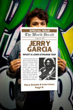 "The World Herald - Jerry Garcia - What A Long Strange Trip - 13""x22"" Vintage Style Showprint Poster - Home Nostalgia Decor – Wall Art Print – Concert Bill"