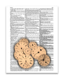 "Time 8.5""x11"" Semi Translucent Dictionary Art Print"
